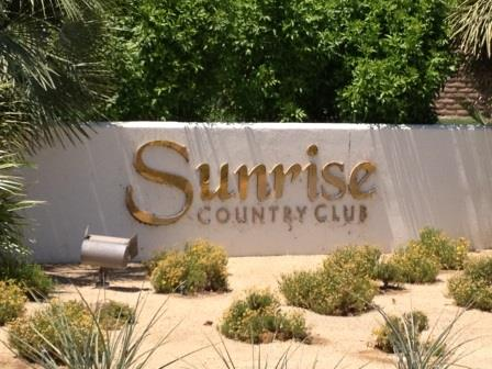 Sign that says Sunrise Country Club