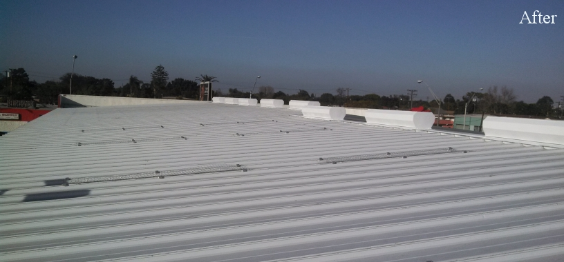Commercial metal roofing after Western Pacific Roofing services