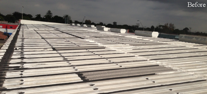 Commercial metal roofing before Western Pacific Roofing services
