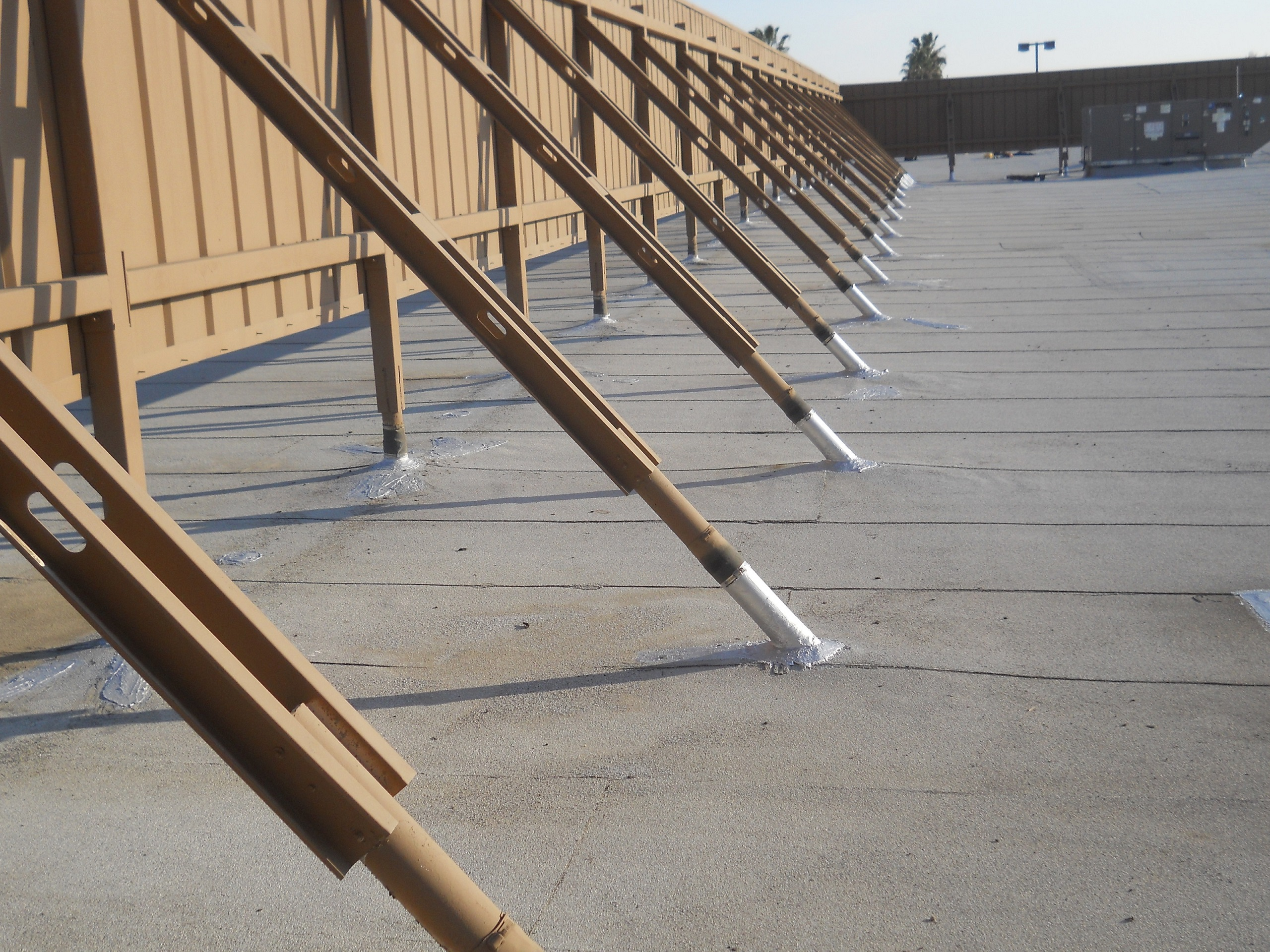Properly maintained commercial roofing
